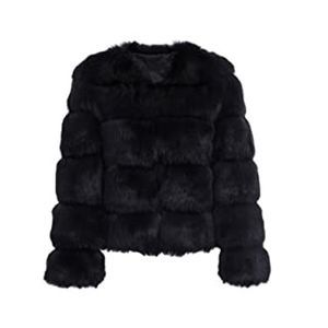 Luxury Winter Warm Fluffy Faux Fur Short Coat